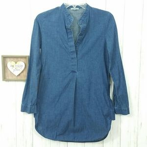 COS Light Denim Long Sleeve Tunic Size 2